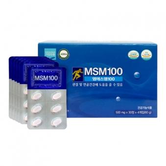 [한미양행] MSM 100 (500mg*30정X4/1개월분) (업체별도 무료배송)