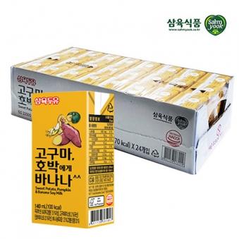 [삼육두유] 고구마 호박에게 바나나 140ml*24팩 (업체별도 무료배송)