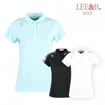 [럭스골프] LB 여성 스컬포인트 반팔 티셔츠 LB9M609W (업체별도 무료배송)