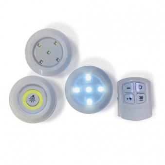 반짝조명 LED 퍽라이트 5구램프 (LED 라이트3개 + 리모컨) (업체별도 무료배송)