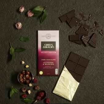그린앤블랙다크초콜릿 라즈베리&헤이즐넛 초콜릿 90g