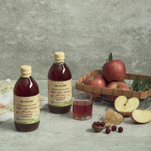 [라벨손상] 유기농 사과식초 위드 크랜베리 & 허니 500ml