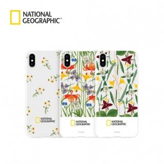 내셔널지오그래픽 플라워 패턴 아이폰 젤리 케이스 (옵션 선택) (업체별도 무료배송)