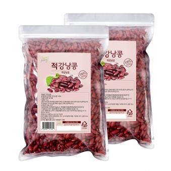 [다다익선] 적강낭콩 1kg x 6개 (업체별도 무료배송)