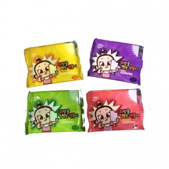 쥐방울 먹는 색종이 25g x 4개 (포도/바나나/사과/딸기 각 1개씩) (업체별도 무료배송)
