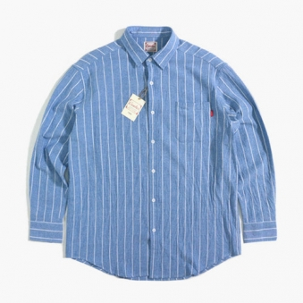 [only 1] 크랙 스트라이프 오버핏 셔츠 (업체별도 무료배송)