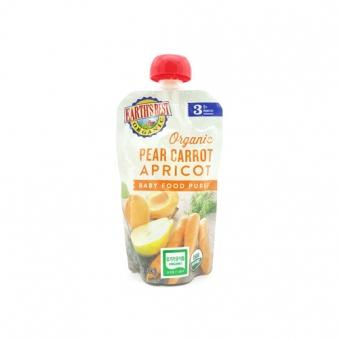 얼스베스트 유기농 3단계 배/당근/살구 파우치 이유식 120g x 6팩 (업체별도 무료배송)