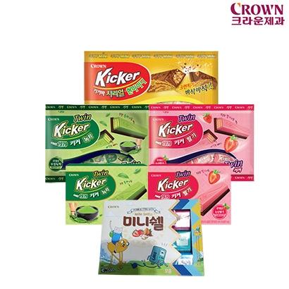 [빼빼로데이] 크라운제과 키커 초콜릿 박스 모음전 (업체별도 무료배송)