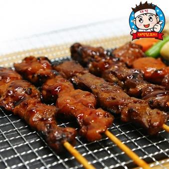 대박닭꼬치 350g (70g*5입) x 2팩구성 (바베큐맛/핫소스맛 중 택1) (업체별도 무료배송)