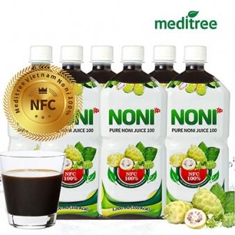 메디트리 NFC 노니원액 주스 100% 1,000ml 선물세트 x (3병 / 6병) (업체별도 무료배송)