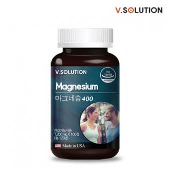 브이솔루션 마그네슘 400 1200mg * 100정 (업체별도 무료배송)