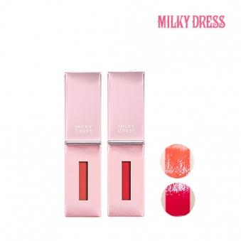 밀키드레스 바비메이크 컬러 팝 틴트 (핑크+코랄)4.8ml 1+1 (업체별도 무료배송)