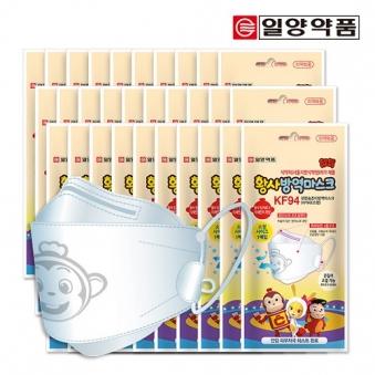 일양약품 코코몽 편한숨 황사방역마스크 KF94 (소형/끈조절/흰색) x 30개 (업체별도 무료배송)