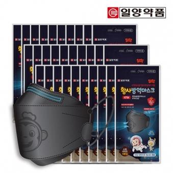 일양약품 코코몽 편한숨 황사방역마스크 KF94 (소형/끈조절/검정) x 30개 (업체별도 무료배송)