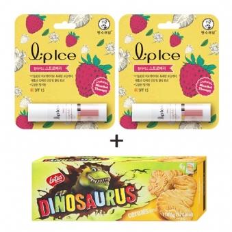 멘소래담 립아이스 립밤 딸기 3.5g x 2개 + 디노사우르스 시리얼 150g (업체별도 무료배송)