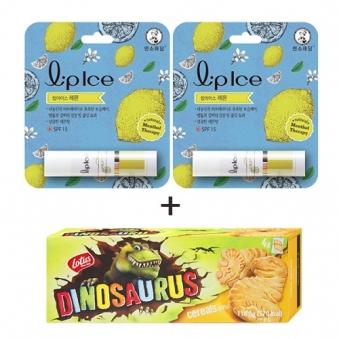 멘소래담 립아이스 립밤 레몬 3.5g x 2개 + 디노사우르스 시리얼 150g (업체별도 무료배송)