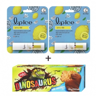 멘소래담 립아이스 립밤 레몬 3.5g x 2개 + 디노사우르스 밀크초코 150g (업체별도 무료배송)
