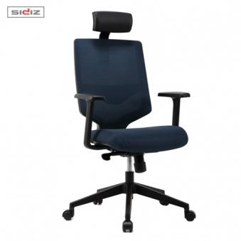 [시디즈] 스트라이프 메쉬 의자 NEW T350HFL 블랙쉘 (요추지지대 포함) (업체별도 무료배송)
