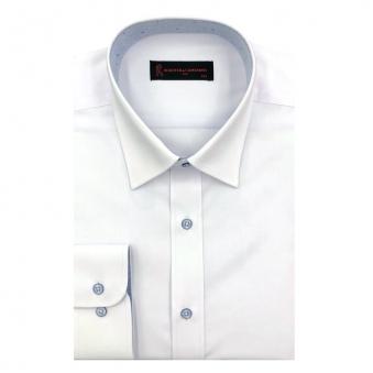 [로베르따] 소량입고 일반핏 무지 화이트 긴소매셔츠 RJ3-301-1 (업체별도 무료배송)