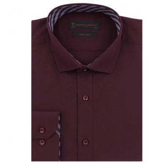 [로베르따] 소량입고 슬림핏 무지 레드 긴소매셔츠RJ3-354-8 (업체별도 무료배송)