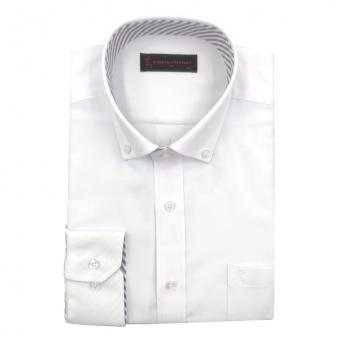 [로베르따] 소량입고 일반핏 무지 화이트 레이온 긴소매셔츠 RJ3-406-1 (업체별도 무료배송)
