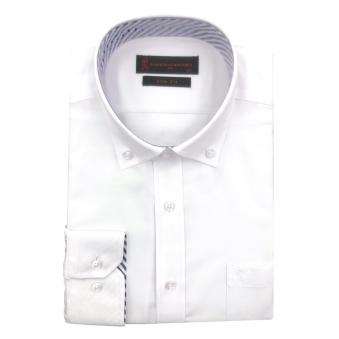 [로베르따] 소량입고 슬림핏 무지 화이트 레이온 긴소매셔츠RJ3-458-1 (업체별도 무료배송)