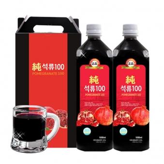 [옻가네] [선물세트 구성] 석류 농축액100 1000ml*2병 (업체별도 무료배송)
