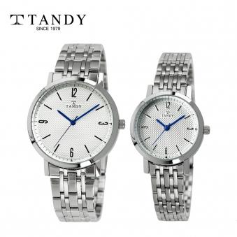 탠디 클래식 커플 메탈 손목시계 T-3705 화이트 (남녀 택1) (업체별도 무료배송)