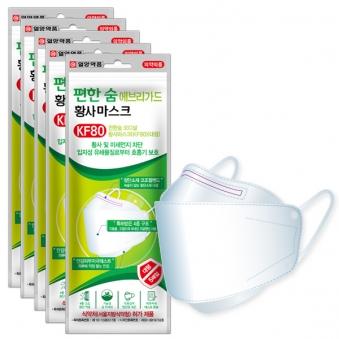 일양약품 편한숨 KF80 황사마스크 대형 5매입 * 5개 (업체별도 무료배송)