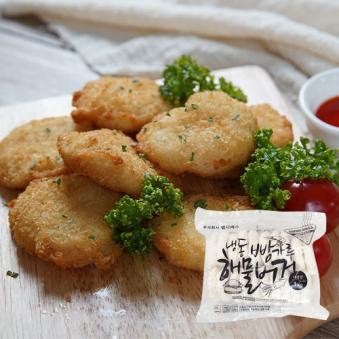[푸드화이터] 빵가루 해물버거 1kg (50g*20입) (업체별도 무료배송)