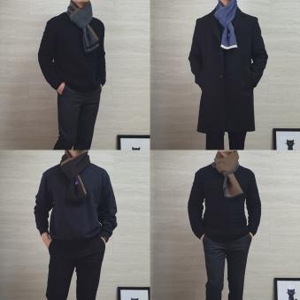 [MSCOPE] 엠스코프 윈터 울 블렌디드 머플러 3종 (업체별도 무료배송)