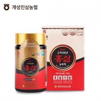 [개성인삼농협] 6년근 고려100년 홍삼농축액 250g (업체별도 무료배송)