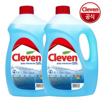 [핫딜] [클레븐] 4무첨가 액체세제 2.5L x 2개 (업체별도 무료배송)