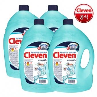 [핫딜] [클레븐] 베이킹소다 더블업 액체세제 3L x 4개 (업체별도 무료배송)