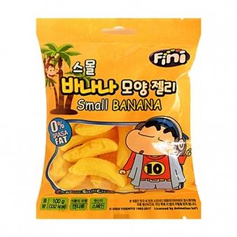 [다다익선] 피니 짱구 스몰 바나나젤리 100g x 10봉 (업체별도 무료배송)