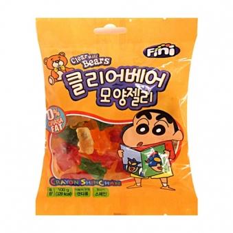 [다다익선] 피니 짱구 클리어베어 모양 젤리 100g x 10봉 (업체별도 무료배송)