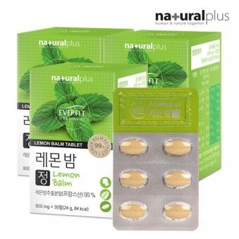 내츄럴플러스 에버핏 레몬밤 500mg * 30정 x 3박스 (업체별도 무료배송)