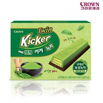 [크라운] 키커 녹차 케이스 34g x 10개 (업체별도 무료배송)