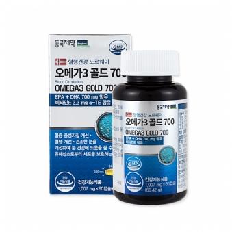 [동국제약] 혈행건강 노르웨이 오메가3 골드700 1007mg*60캡슐 (업체별도 무료배송)