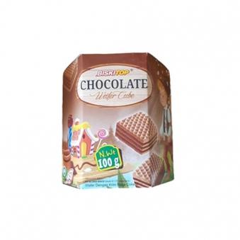 비스키탑 초콜릿 와퍼 큐브 100g x 12개 (업체별도 무료배송)