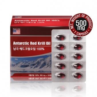 남극 레드크릴오일 100퍼센트 500mg x 120캡슐 (업체별도 무료배송)