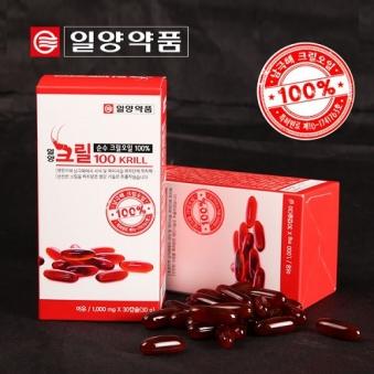 [홈쇼핑상품] [일양약품] 크릴 100 1g x 30캡슐 (업체별도 무료배송)