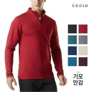 [테슬라] 남성 기모 반목 집업 티셔츠 TM-YKZ01(8색상) (업체별도 무료배송)