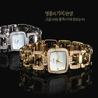 (홈쇼핑 방송상품) AMER 정품 천연 다이아몬드 여성 명품 손목시계 (색상 선택) (업체별도 무료배송)