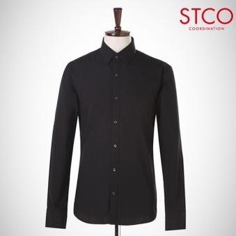 [STCO] 블랙 솔리드 셔츠_SDSDC98ZSB (업체별도 무료배송)