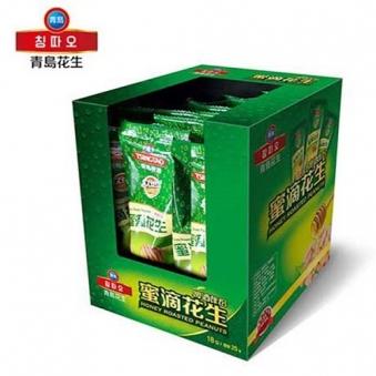 [다다익선] 칭따오 허니 땅콩 25g x 18입 x 2박스 (업체별도 무료배송)
