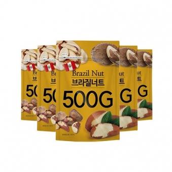 [다다익선] [그린너트] 브라질너트 500g x 5봉 (업체별도 무료배송)