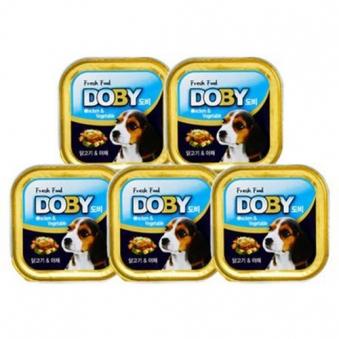 도비 닭고기&야채캔 90g x 10개 (업체별도 무료배송)