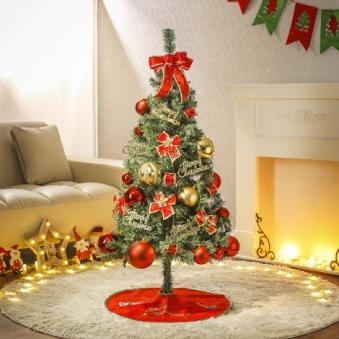 [크리스마스트리] 120cm 레드 페스티발 스카치트리 풀세트 0404-22247C (업체별도 무료배송)