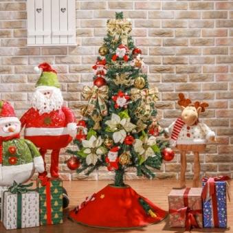[크리스마스트리] 120cm 노엘인형 스카치트리 풀세트 0404-6470A (업체별도 무료배송)